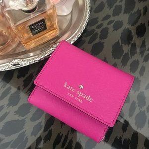 Kate Spade Mini Pink Wallet (rare!)